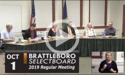Brattleboro Selectboard Mtg 10/1/19