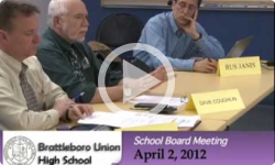 Brattleboro Union High School Bd. Mtg. 4/2/12