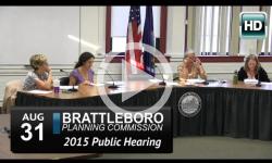 Brattleboro Planning Commission: Public Hearing 8/31/15