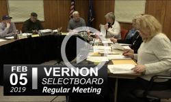 Vernon Selectboard Mtg 2/5/19