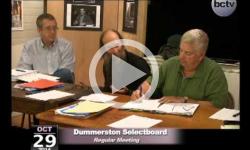 Dummerston SB Mtg 10/29/14
