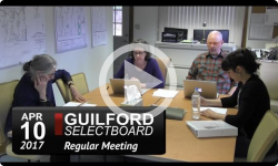Guilford Selectboard Mtg 4/10/17