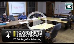 Townshend Selectboard Mtg 1/4/16