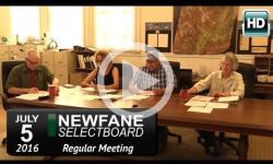 Newfane Selectboard Mtg 7/5/16