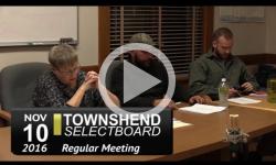 Townshend Selectboard Mtg 11/10/16