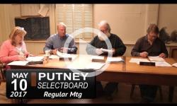Putney Selectboard Mtg 5/10/17