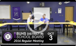 BUHS School Board Mtg 10/3/16