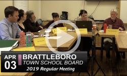 Brattleboro Town School Bd Mtg  4/3/19