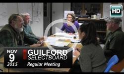 Guilford Selectboard Mtg 11/9/15