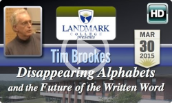 Landmark College presents: Tim Brookes, 'Disappearing Alphabets ' 3/30/15