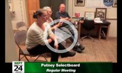 Putney Selectboard Mtg 9/24/14