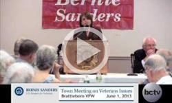 Bernie Sanders Town Mtg on Veterans Issues: Brattleboro 6/1/13