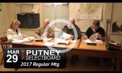 Putney Selectboard Mtg 3/29/17