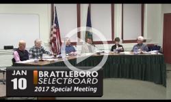 Brattleboro Selectboard Special Mtg 1/10/17