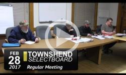 Townshend Selectboard Mtg 2/28/17