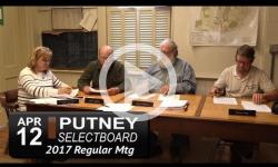 Putney Selectboard Mtg 4/12/17