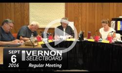 Vernon Selectboard Mtg 9/6/16