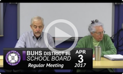BUHS High School Board Mtg. 4/3/17