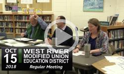 WRMUED School Board Mtg 10/15/18