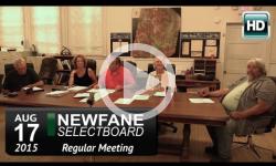 Newfane Selectboard Mtg 8/17/15