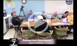 Dummerston Selectboard Mtg 1/7/15
