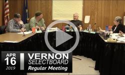 Vernon Selectboard Mtg 4/15/19