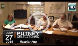 Putney Selectboard 7/27/16