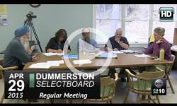 Dummerston Selectboard Mtg 4/29/15