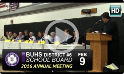 Brattleboro Union High School Board Annual Mtg 2/9/16