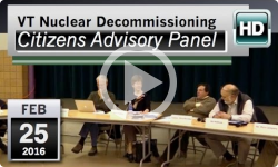 VT Nuclear Decommissioning Citizens Advisory Panel: 2/25/16