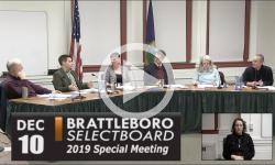 Brattleboro Selectboard Mtg 12/10/19