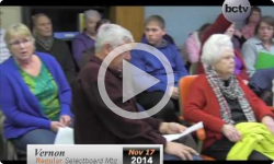 Vernon Selectboard Meeting 11/17/14