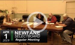 Newfane Selectboard Mtg 4/1/19