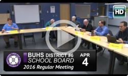BUHS School Board Mtg 4/4/16