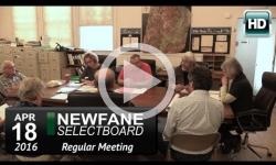Newfane Selectboard Mtg 4/18/16