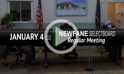 Newfane Selectboard: Newfane SB Mtg 1/4/21