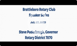 Brattleboro Rotary Club Speaker Series: Episode 11 - Steve Puderbaugh