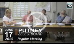 Putney Selectboard 6/17/15