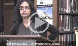 1st Weds. Prof. Kavita Datla 5/04/11