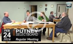 Putney Selectboard 2/24/16
