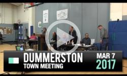 2017 Dummerston Town Mtg 3/7/17