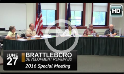 Brattleboro DRB Special Mtg 6/27/16