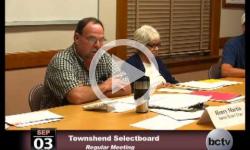 Townshend Selectboard Mtg. 9/3/13