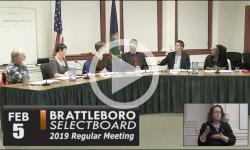 Brattleboro Selectboard Mtg 2/5/19