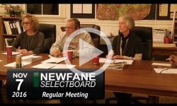 Newfane Selectboard Mtg 11/7/16