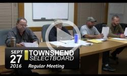 Townshend Selectboard Mtg 9/27/16