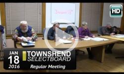 Townshend Selectboard Mtg 1/18/16