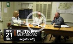 Putney Selectboard Mtg 12/21/16