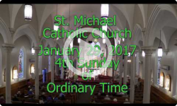 Mass from Sunday January 29, 2017