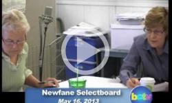 Newfane Selectboard Mtg 5/16/13